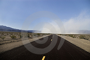 Dust Storm On Highway Stock Images - Image: 5751814