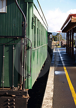 1940's Railway Carriage At Station Royalty Free Stock Photography - Image: 5752427