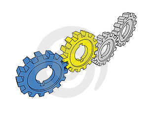 Isolated Cogwheels Royalty Free Stock Photo - Image: 5752465
