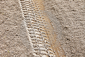 Tire Track 1 Stock Photos - Image: 5752623