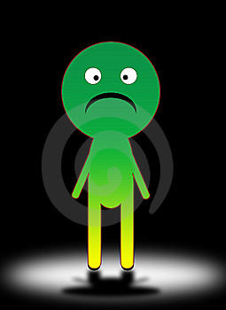 Sad Cartoon Man 3 Royalty Free Stock Photography - Image: 5756357