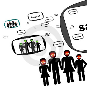 Aliens In Vector Stock Images - Image: 5761864