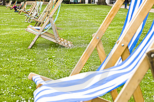 Vacant Deck Chairs Stock Photo - Image: 5765280