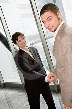 Hand shake Stock Image