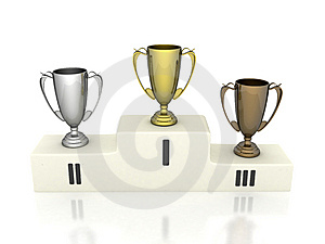 Pedestal Winners Royalty Free Stock Images - Image: 5771549
