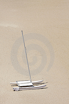 Sailboat On Beach Royalty Free Stock Photos - Image: 5774858