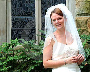 Bride Outside Royalty Free Stock Photos - Image: 5782708