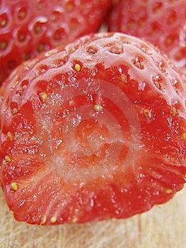 Strawberry Bite Macro Stock Photos - Image: 5784343