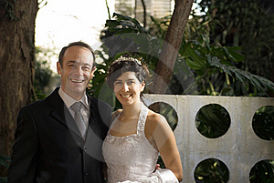 Newly Weds Smiling - Horizontal Stock Photo - Image: 5791280