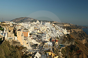 Santorini Hilltop Village Stock Photos - Image: 5791893