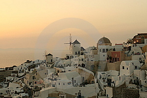 Sunset Over Greek Village Stock Photography - Image: 5792012