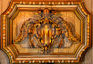 Ceiling Decoration In A Church In Rome Stock Photo - Image: 5793220
