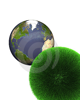 Sphere Of Grass With Earth Royalty Free Stock Image - Image: 5795116