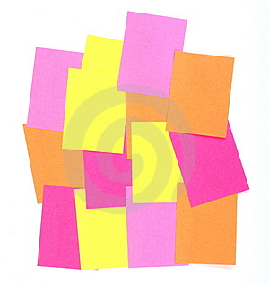 Post-it   Memo Isolated On White Royalty Free Stock Photos - Image: 5796148