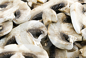 Sliced Mushrooms Royalty Free Stock Images - Image: 5799069