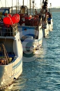 Waiting Boats Stock Photos - Image: 584503