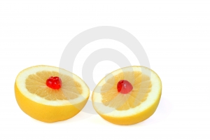 Double Grapefruit Dessert Stock Image - Image: 585821