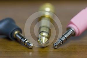 Stereo Audio Jacks Royalty Free Stock Photo - Image: 587525