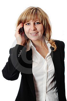 Successful Smiling Woman Talking On Mobile Phone Royalty Free Stock Photo - Image: 5800615