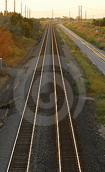 Three Train Tracks Stock Images - Image: 5802284
