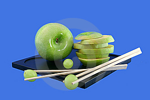 Grapes And The Chinese Rods Royalty Free Stock Images - Image: 5802349