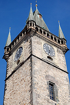 Clock Tower At Noon Royalty Free Stock Photography - Image: 5804417