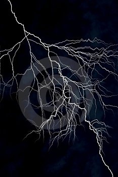 Lightning Strike. Stock Photo