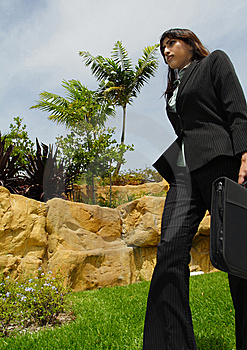 Businesswoman Walking Royalty Free Stock Image - Image: 5815516