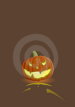 Vector Illustration Of An Evil Pumpkin Royalty Free Stock Images - Image: 5815909