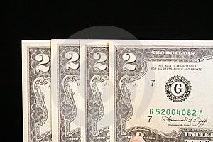 Zwei Dollarschein Stockbilder - Bild: 5818144