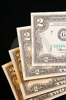 Billete De Dólar Dos Imagenes de archivo - Imagen: 5818154