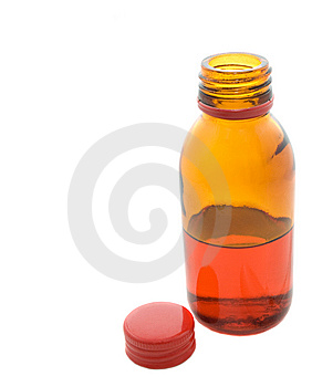 Small Bottle With Drug Royalty Free Stock Images - Image: 5818809