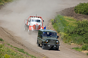 Camion En Concurrence Images stock - Image: 5821324