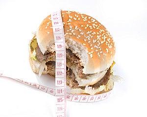 The Taken A Bite Hamburger Stock Photo - Image: 5821790