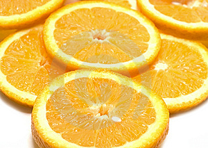 Orange Segments Isolated On White Stock Photography - Image: 5822922