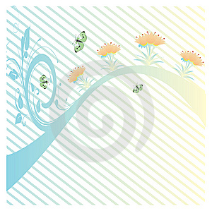 Flowers For Your Text 2 Stock Image - Image: 5828001