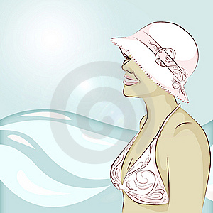 Bikini And A Hat Royalty Free Stock Photos - Image: 5829458