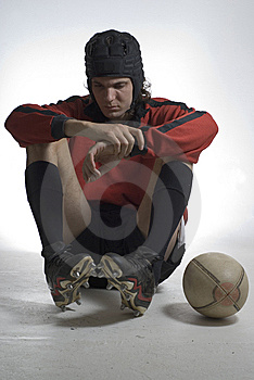 Sad Rugby Player - Vertical Royalty Free Stock Photography - Image: 5829887