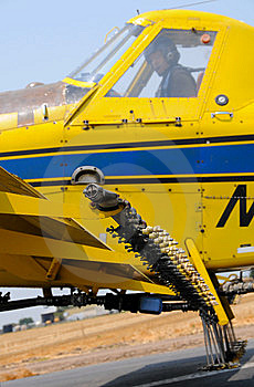 Pilot In Crop Duster Stock Images - Image: 5830034