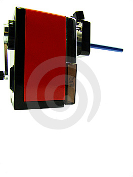 Red Pencil Sharpener Royalty Free Stock Photo - Image: 5832495