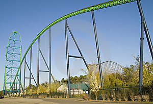 Roller Coaster Royalty Free Stock Images - Image: 5840189