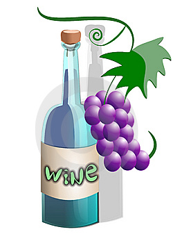 Wine Cartoon Bottle Stock Images - Image: 5840784