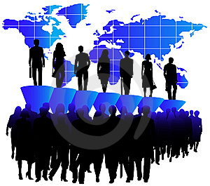 People, Graph And Map Stock Photo - Image: 5841180