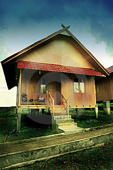 Pagaralam House Royalty Free Stock Photography