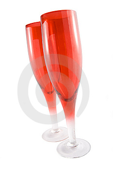 Two Red Glass Royalty Free Stock Image - Image: 5843786