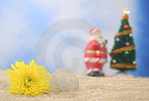 Christmas At Beach Stock Photos - Image: 5843863