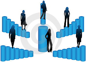 Women Team And Graph Stock Images - Image: 5848704