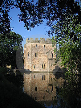 Castle Tower Reflected In Moat Stock Photo - Image: 5849190