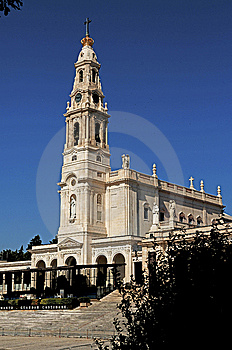 Portugal, Fatima; View Of The Basilica Royalty Free Stock Image - Image: 5853036