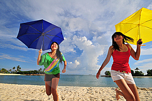 Fun At The Beach 38 Royalty Free Stock Photos - Image: 5853458